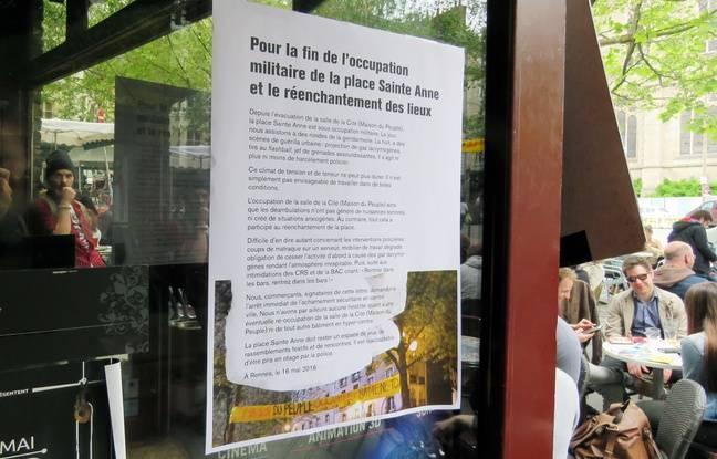 Certains commerçants de la place Sainte-Anne à Rennes demandent à ce que les forces de l'ordre s'éloignent.