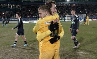 La joie des joueurs de Pau après la qualif' jeudi dernier contre Bordeaux.