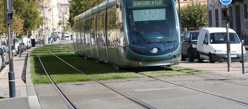 Le 20 octobre 2015, tramway a Bordeaux