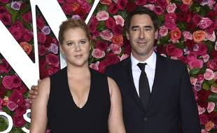 L'actrice Amy Schumer et son mari, Chris Fischer  à New York.