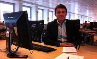 Manuel Valls, le 28 juillet 2011 dans les locaux de 20 Minutes