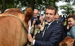 Emmanuel Macron au lycée agricole des Vaseix à Verneuil-sur-Vienne, le 9 juin 2017.