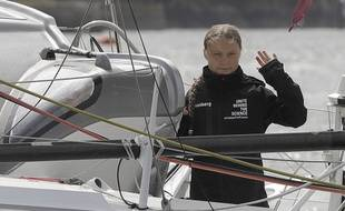 Greta Thunberg a pris la mer direction New York, mercredi 14 août.