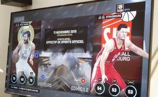 Strasbourg, le 11 novembre 2015. - Comme elle dispute l'Euroligue, la SIG est présente dans le jeu vidéo NBA 2K16.