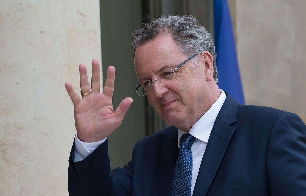 Richard Ferrand, ancien ministre de la Cohésion des territoires, le 18 mai 2017 à l'Elysée. –  WITT/CHAMUSSY/SIPA Ville  : PARIS