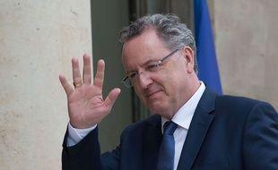 Richard Ferrand, ancien ministre de la Cohésion des territoires, le 18 mai 2017 à l'Elysée.