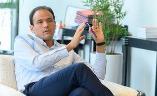 Le secrétaire d'Etat chargé de la Transition numérique, Cédric O, lors de l'interview accordée à « 20 Minutes».