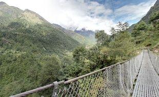 Le parc national de Sagarmatha, vu par Google Street view.