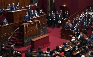 Emmanuel Macron devant le Congrès à Versailles, le 3 juillet 2017.