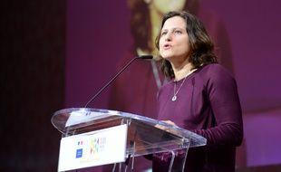 La ministre des Sports Roxana Maracineanu à la Global Sports Week au Louvre, le 6 février 2020.