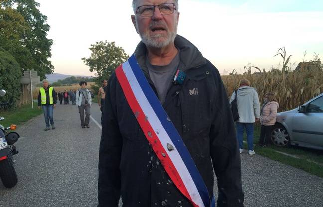 Dany Karcher, maire de Kolbsheim, un peu après l'évacuation de la ZAD.