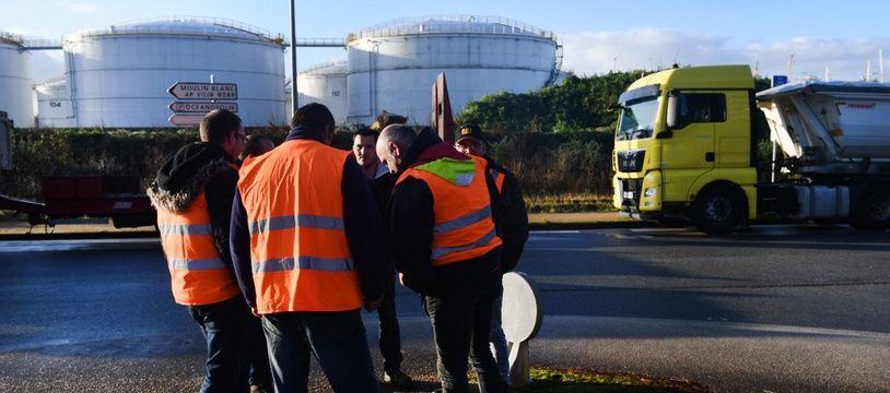Un blocage, ici à Brest, dans le Finistère.