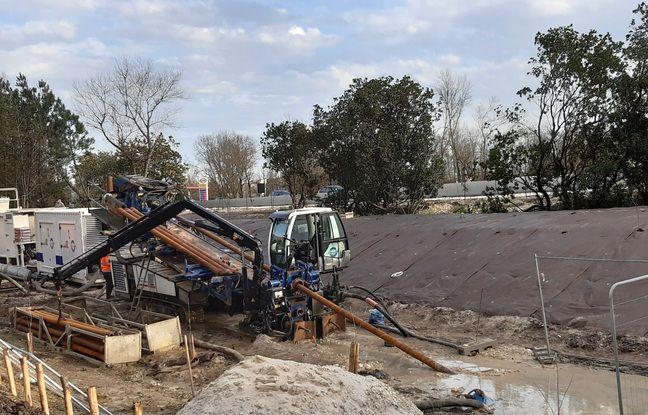 Le chantier du forage va durer une semaine.