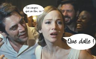 Javier Bardem et Jennifer Lawrence dans «Mother!».