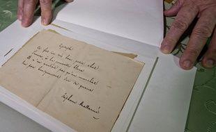 Un poème de Mallarmé a été adjugé à 963.000 euros chez Sotheby's à Paris, le 15 octobre 2015