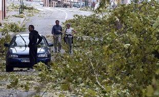 A Montauban après de violents orages survenus le 31 août 2015.