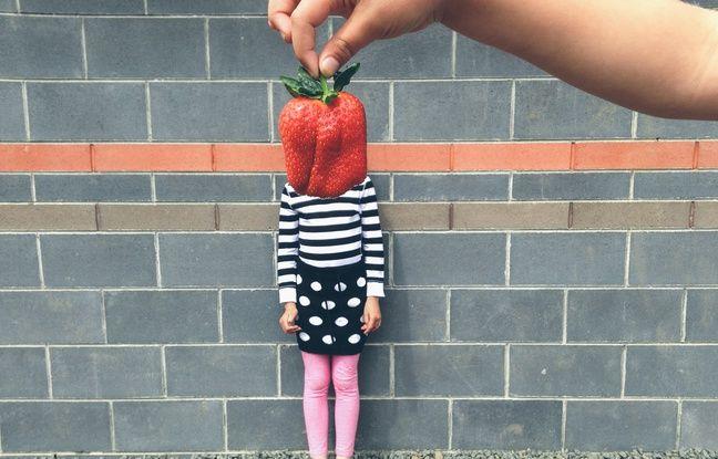 Une fraise humaine