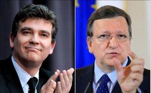 """Le gouvernement français partage """"sur le fond"""" les propos du ministre Arnaud Montebourg qui a accusé le président de la Commission européenne d'être """"le carburant du Front national"""" (extrême droite), a assuré mercredi la porte-parole du gouvernement, Najat Vallaud-Belkacem."""