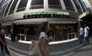 Un Starbucks coffee à New York.