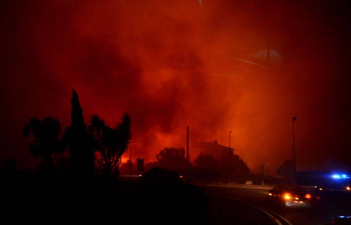Incendie en Haute Corse sur la commune de Biguglia. – SIPA