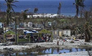 La plage de Port Salut, dans le sud-ouest d'Haïti, le 12 octobre 2016