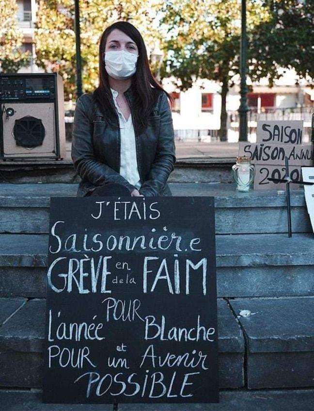 Axelle Richardson, la présidente du collectif des saisonniers de Lourdes et sa vallée a entamé une grève de la faim.