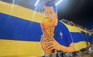 La banderole déployée par les supporters des Tigres pour accueillir Florian Thauvin.