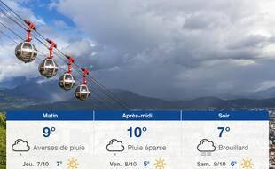 Météo Grenoble: Prévisions du mercredi 6 octobre 2021