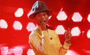 Pharrell Williams en live à la télé allemande le 22 février 2014