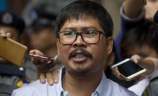 Le journaliste de l'agence Reuters Wa Lone, qui avec Kyaw Soe Oe a enquêté sur un massacre de Rohingyas en Birmanie, ici à Rangoun le 9 juillet 2018.