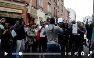Des membres de l'UDC lors d'une action devant la mairie de Montreuil le 4 juillet dernier.