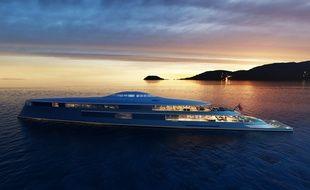 Ce bateau, nommé « Aqua », a été conçu par Sinot. L'entreprise a démenti que Bill Gates ait acheté le yacht.