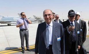L'avionneur et homme politique Serge Dassault à Abu Dhabi en mai 2009.