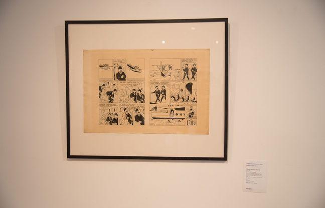Une partie de la collection personnelle de bandes dessinées du chanteur Renaud a été vendue samedi 30 avril, dont cette double planche de Tintin, issue du «Sceptre d'Ottokar».