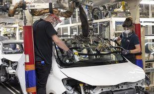 Dans l'usine Toyota de Valenciennes, le 28 avril 2020.