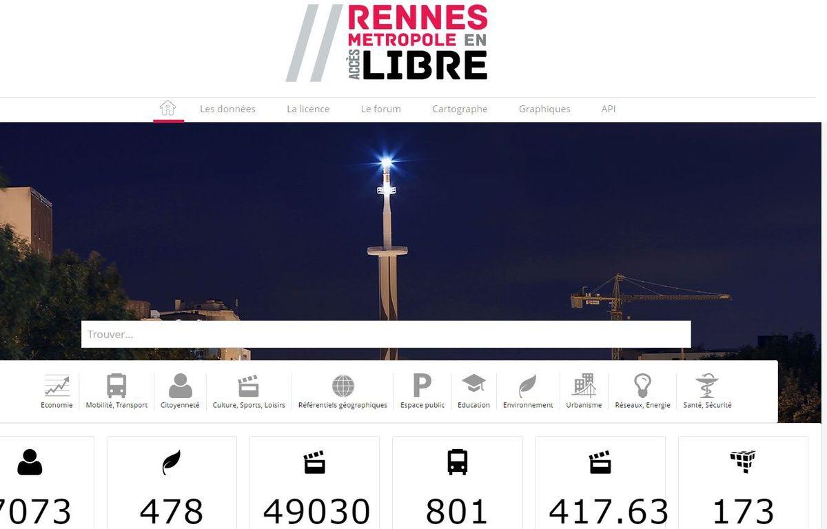 Image extraite du nouveau site d'open data de Rennes Métropole. – Capture d'écran