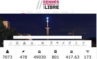 Image extraite du nouveau site d'open data de Rennes Métropole.