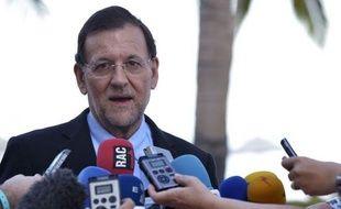 """Le président du gouvernement espagnol, Mariano Rajoy, s'est réjoui jeudi au Brésil de l'audit du système bancaire en Espagne qui a montré que """"les nécessités en capital"""" seront moins élevées que prévu et a demandé que l'aide européenne soit versée """"le plus rapidement possible""""."""