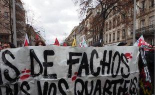 Strasbourg: Près de 400 personnes ont pris part à la première manifestation dans la rue contre l'ouverture d'un bar identitaire en décembre, puis 600 à la deuxième, fin janvier.