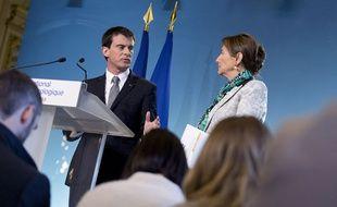 Manuel Valls et Ségolène Royal le 4 février 2015.