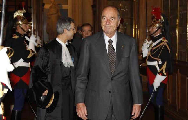 Jacques Chirac, le 6 janvier 2011, à la Cour des Comptes à Paris.