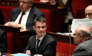 Le Premier ministre  Manuel Valls lors des questions au gouvernement le 20 janvier 2016 à l'Assemblée nationale à Paris