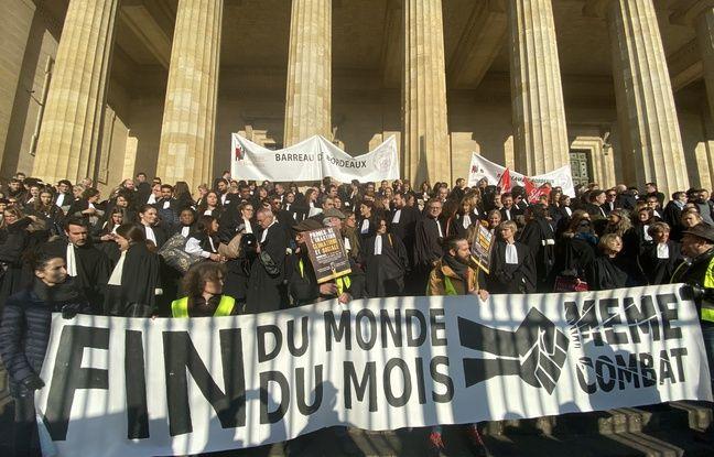 Les avocats du barreau de Bordeaux étaient aussi mobilisés