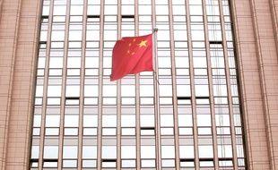 Illustration: Un drapeau en Chine.