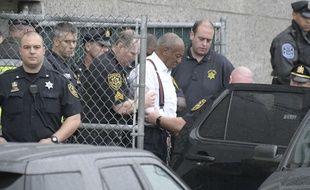 L'acteur Bill Cosby après l'annonce de sa condamnation pour agression sexuelle, en 2018