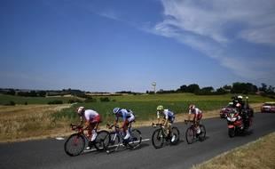 Rossetto, De Gendt, Perez et Calmejane, les échappés lors de la 11e étape du Tour de France.