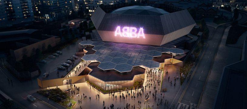 L'auditorium spécialement conçu pour accueillir le spectacle holographique ABBA: Voyage au Queen Elizabeth Olympic Park de Londres