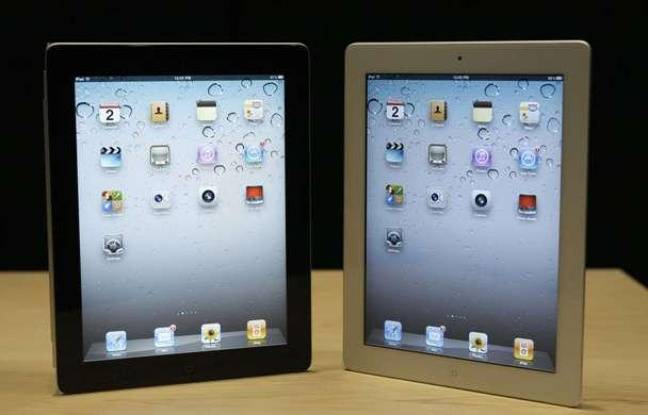L'iPad 2 d'Apple présenté en mars 2011.