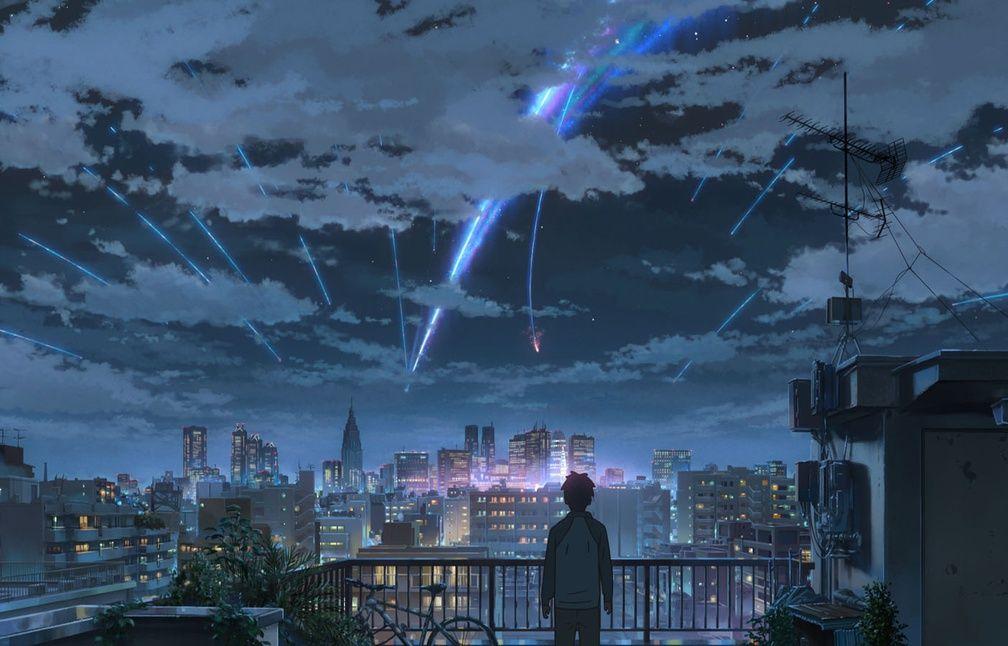 Taki osserva il cielo notturno mentre la cometa Tiamath si frammenta.
