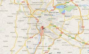 Google map de Saint-Fons.